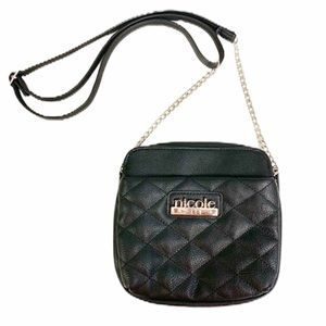 NICOLE BY NICOLE MILLER Black Crossbody Bag